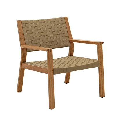 Maze Lounge Chair - Buffed Teak (Malt Strap)
