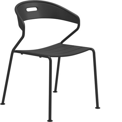 Curve Aluminium Stacking Chair (Meteor)