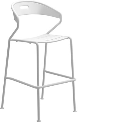 Curve Aluminium Bar Chair (White)