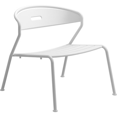 Curve Aluminium Lounge Chair (White)