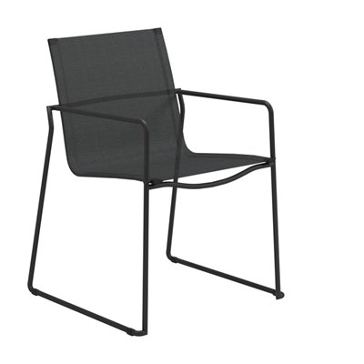 Asta Stacking Chair with Arms (Meteor / Anthracite)