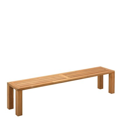 Square 210cm Backless Bench - Natural Teak