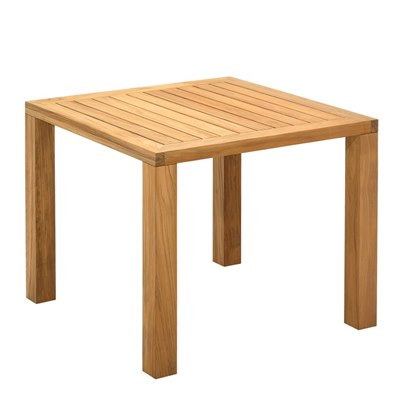 Square XL 92cm Square?Table - Natural Teak