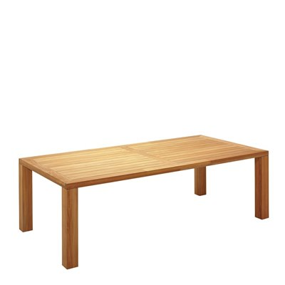 Square XL 115cm x 240cm Table - Natural Teak