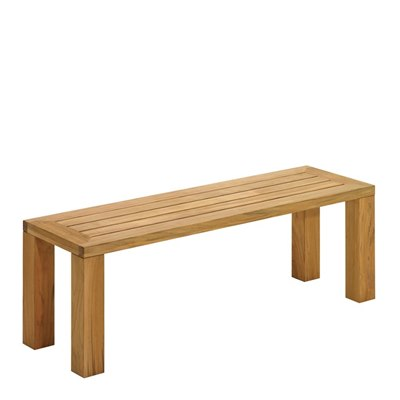 Square 131cm Backless Bench - Natural Teak