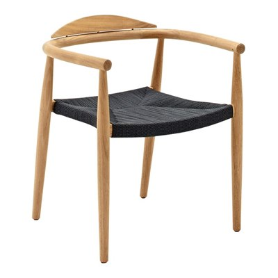 Dansk Stacking Chair with Arms - Buffed Teak (Flint Rope)