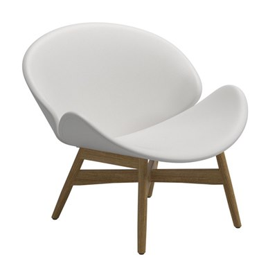 Dansk Lounge Chair - White Outdoor Leather