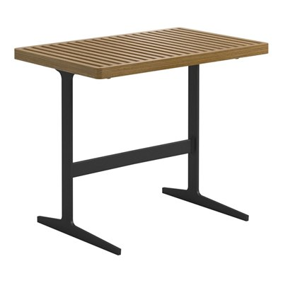 Grid Side Table - Buffed Teak Top