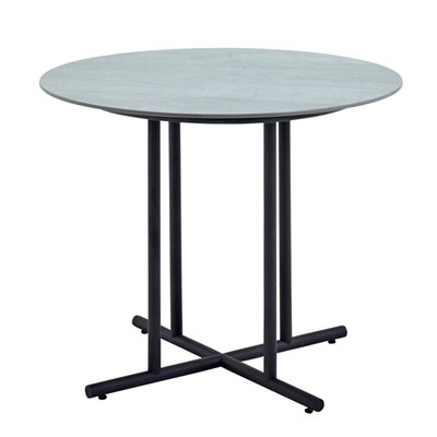 Whirl 90cm Round Dining Table - Pumice Ceramic Top (Meteor)