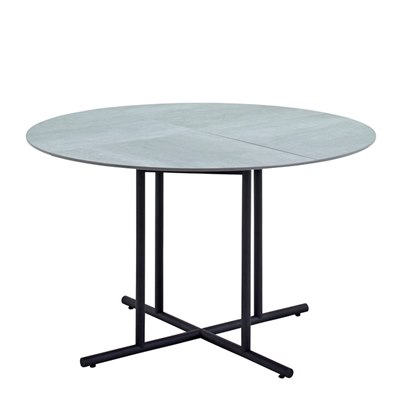Whirl 120cm Round Dining Table - Pumice Ceramic Top (Meteor)