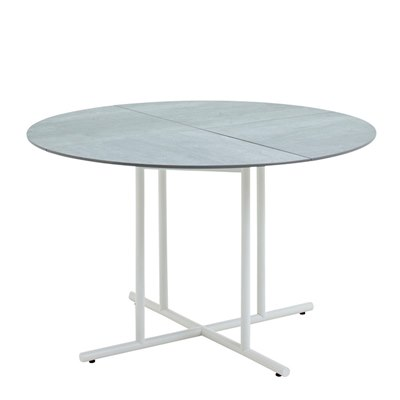 Whirl 120cm Round Dining Table - Pumice Ceramic Top (White)