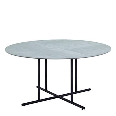 Whirl 150cm Round Dining Table - Pumice Ceramic Top (Meteor)