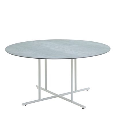 Whirl 150cm Round Dining Table - Pumice Ceramic Top (White)