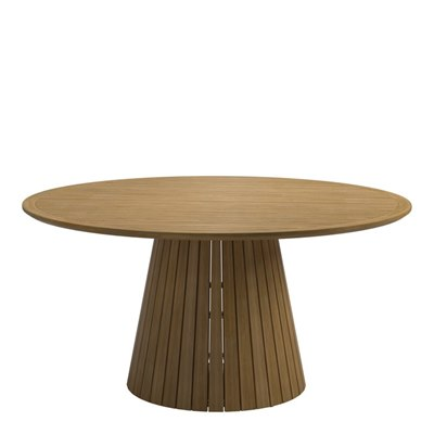 Whirl Teak 150cm Round Table - Buffed Teak