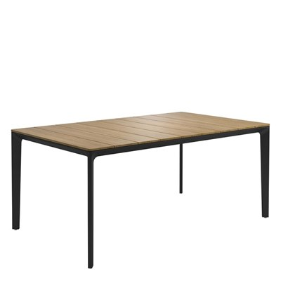 Carver 100cm x 170cm Table - Buffed Teak Top (Meteor)