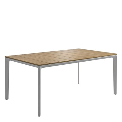 Carver 100cm x 170cm Table - Buffed Teak Top (White)