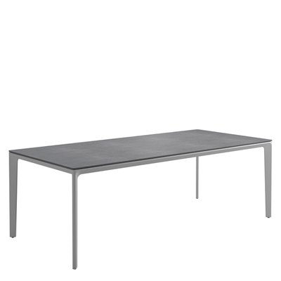 Carver 100cm x 220cm Table - Pumice Ceramic Top (White)