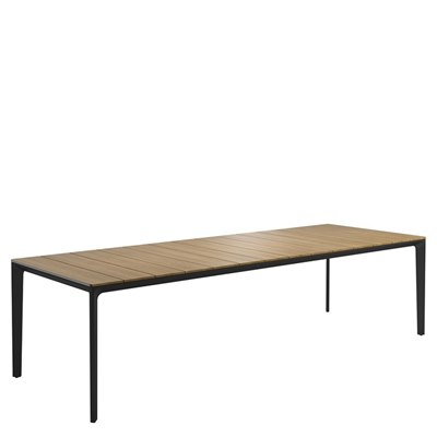 Carver 100cm x 280cm Table - Buffed Teak Top (Meteor)