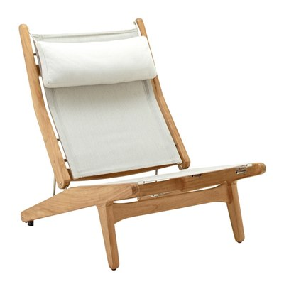 Bay Reclining Chair - Buffed Teak (Seagull)?- Quartz Headrest