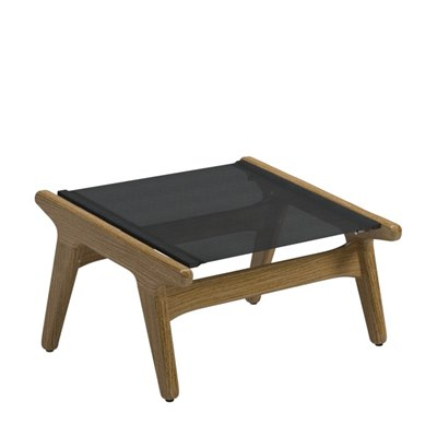 Bay Footstool - Buffed Teak (Anthracite)