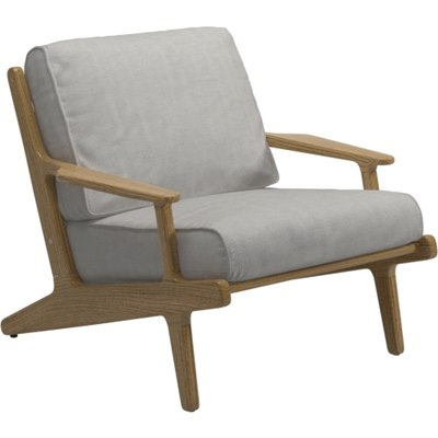 Bay Lounge Chair - Buffed Teak (Seagull)