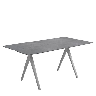 Split 92cm x 170cm Dining Table - Pumice Ceramic Top (White)