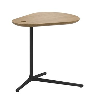 Trident Side Table - Buffed Teak Top (Meteor)