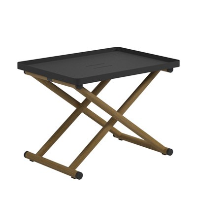 Voyager Folding Tray Stand - Buffed Teak (Meteor)