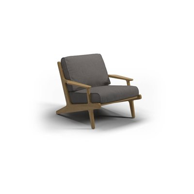 Bay Teak Lounge Chair - Granite