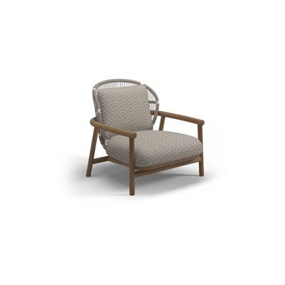 Low Back Lounge Chair - White/Dune