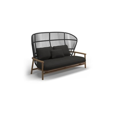 High Back 2-Seater Sofa - Meteor/Raven