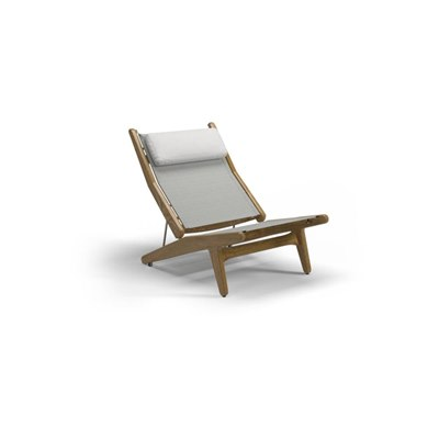 Bay Teak Reclining Chair - Seagull