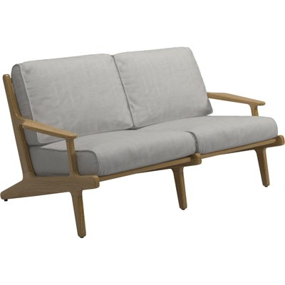 Bay 2-Seater Sofa - Buffed Teak (Seagull)