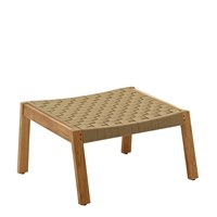 1822MB Maze Footstool - Buffed Teak (Malt Strap)