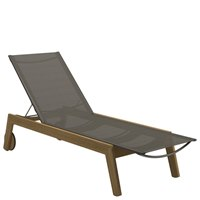 1850GNB Solana Sling Lounger - Buffed Teak (Granite)