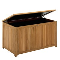 344 Cushion / Storage Chest - Natural Teak