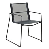 3800MG Asta Stacking Chair with Arms (Meteor / Grey)