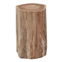 6300 Raw Teak Log Side Table