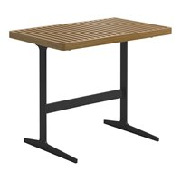 7176B Grid Side Table - Buffed Teak Top