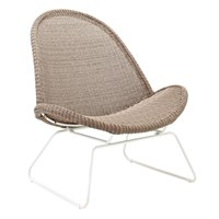 7810WN Bepal Lounge Chair (White / Nutmeg)