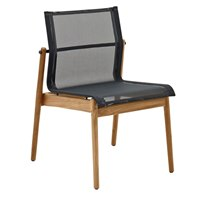 8202MGB Sway Teak Stacking Chair - Buffed Teak (Meteor / Grey)
