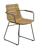 8708MB William Dining Chair with Arms - Buffed Teak (Meteor)