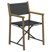 9300ANB Voyager Directors Chair - Buffed Teak / Standard Sling (Anthracite)