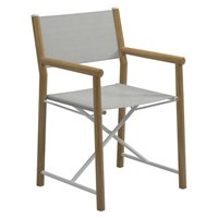 9300SGB Voyager Directors Chair - Buffed Teak / Standard Sling (Seagull)