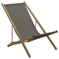 9320GNB Voyager Deck Chair - Buffed Teak (Granite)